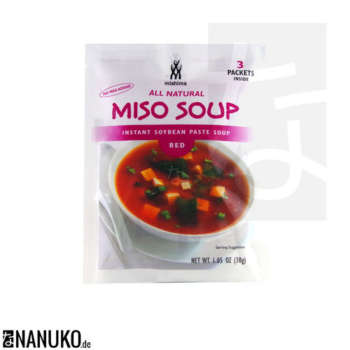 Mishima Instant Rote Miso Suppe 30g (japanische Suppe)