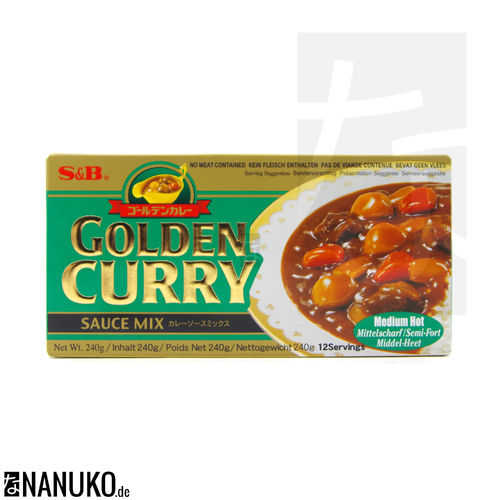 S&B Golden Curry medium hot 240g (japanischer Curry)