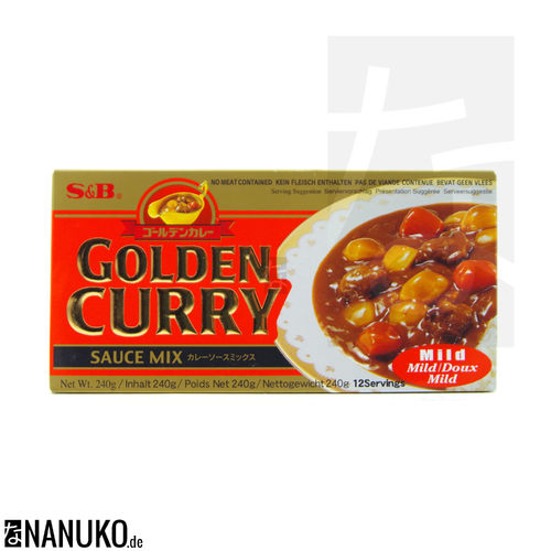 S&B Golden Curry mild 240g (japanischer Curry)