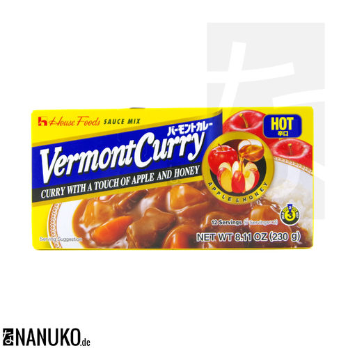 House Vermont Curry hot 230g (japanischer Curry)
