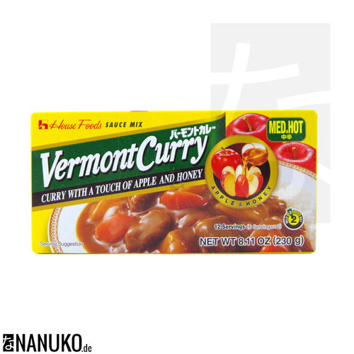House Vermont Curry medium hot 230g (japanischer Curry)