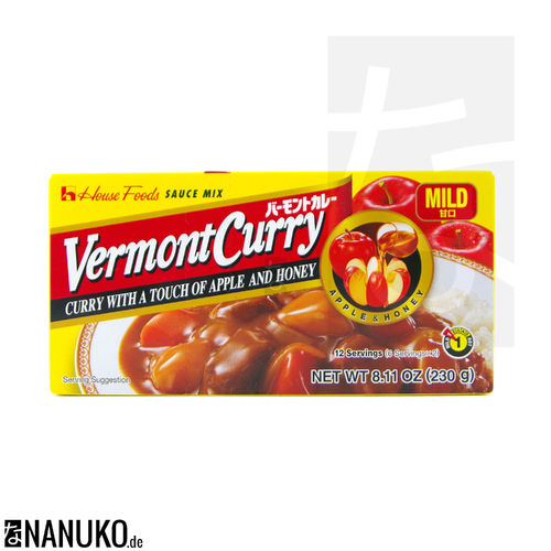 House Vermont Curry mild 230g (japanischer Curry)