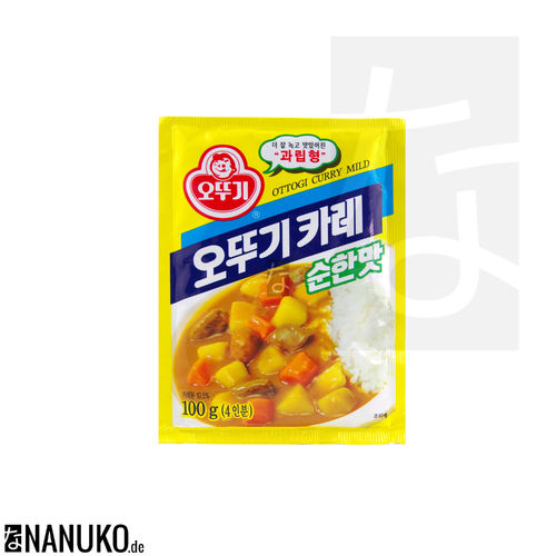 Ottogi Curry Fertigmischung mild 100g (koreanischer Curry)