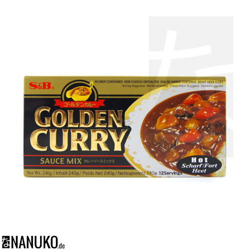 S&B Golden Curry hot 240g (japanischer Curry)