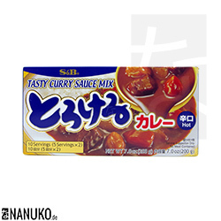 S&B Torokeru Curry hot 200g (japanischer Curry)