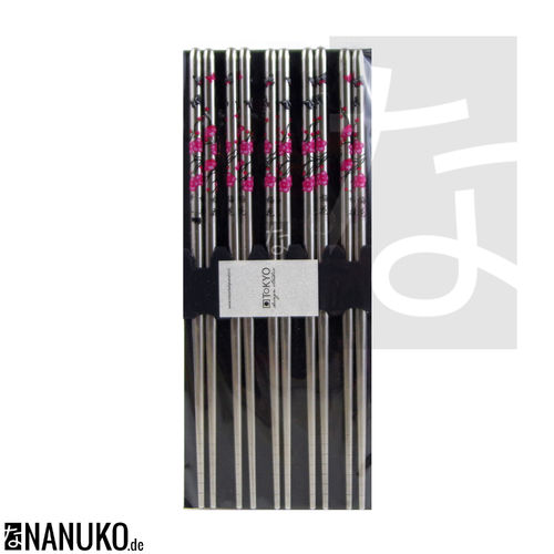 Chopstick silber cherry blossom design (Set of 5)
