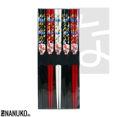 Chopstick 3colour crane design (Set of 5)
