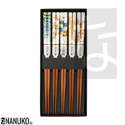 Chopstick with asian blossoms (Set of 5)