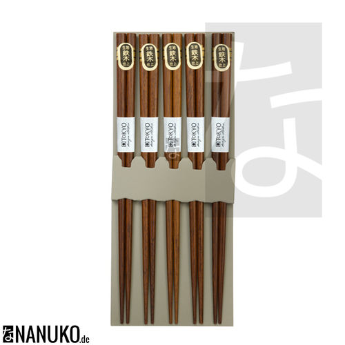Chopstick nature darkbrown (Set of 5)