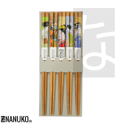 Chopstick with Geisha design (Set of 5)