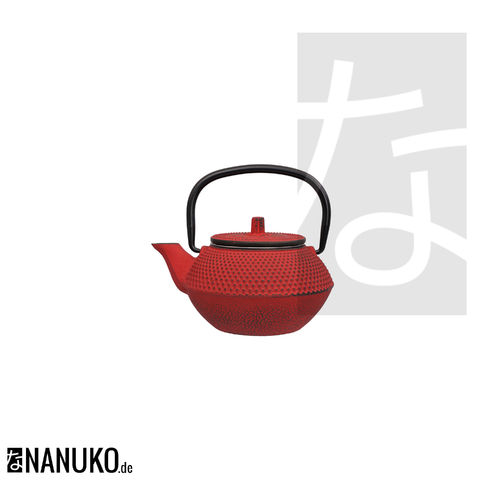 Tea Kettle Iron in red 350ml