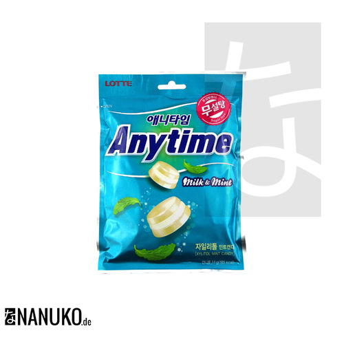 Lotte Anytime Milk & Mint 74g