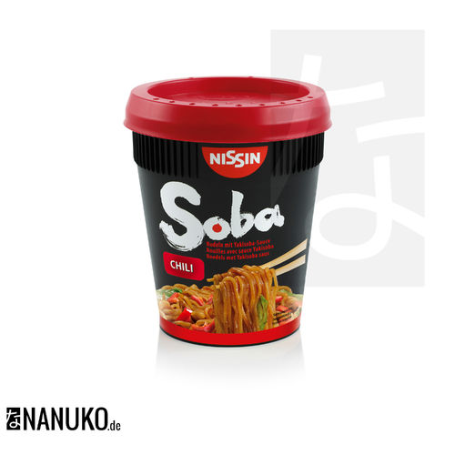 Nissin Soba Nudel Chili Cup 92g
