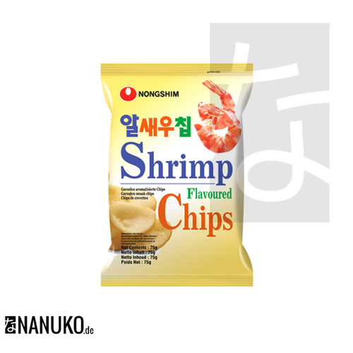 Nongshim Shrimps Chips 75g (koreanische Cracker)