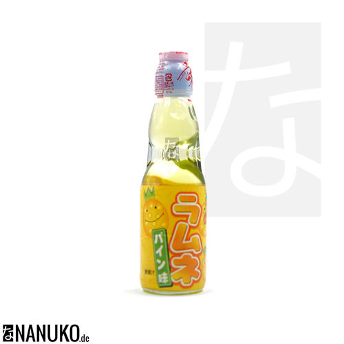 Hata Ramune Pineapple 200ml (japanese carbonated softdrink)