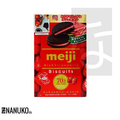 Meiji Rich Strawberry Biscuits 96g
