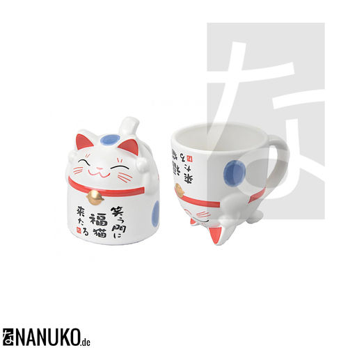 Tea Mug in Cat Form blue