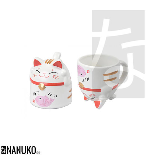 Tea Mug in Cat Form pink