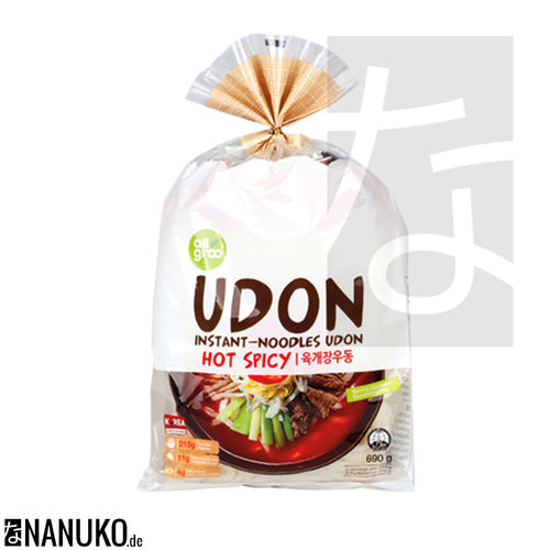 All Groo Instant Udon Nudel Hot Spicy 690g