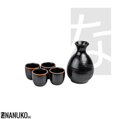 Yuzu Black Sake Set