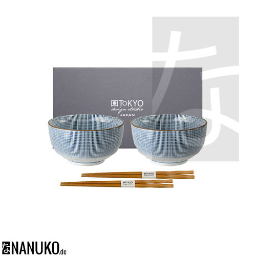 Sendan Tokusa Bowl Set with Chopsticks