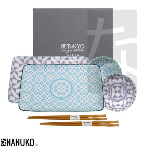 Geo Eclectic Sushi Set