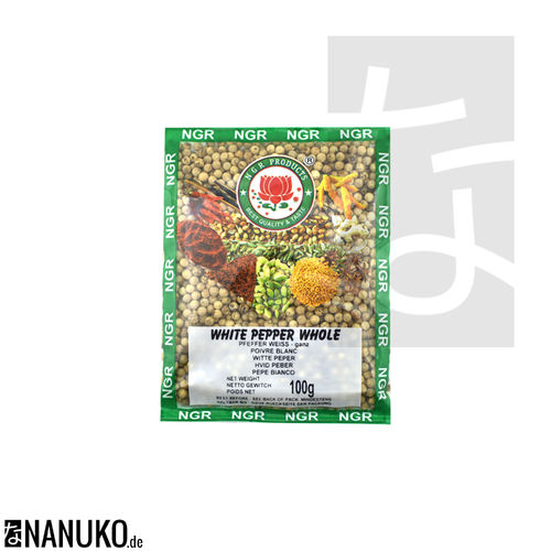 NGR White Pepper whole 100g