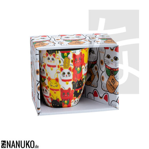 Kawaii Lucky Cat Teebecher Multi Cat