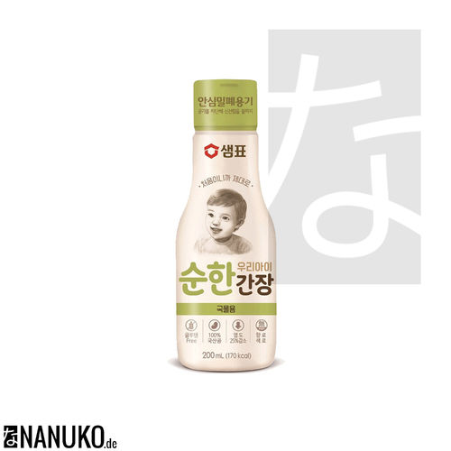Sempio mild Soysauce for Soup for Kids 200ml