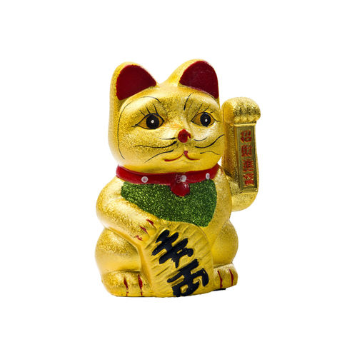 Lucky Cat in Gold 17,5cm