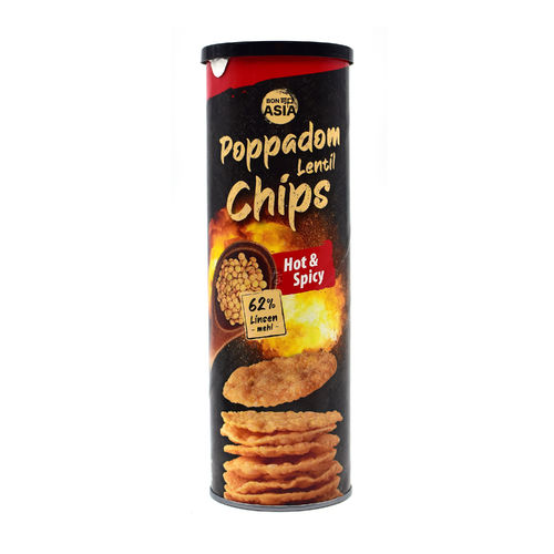 Bon Asia Poppadom Linsenchips Hot & Spicy 70g